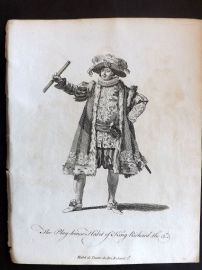 Jefferys C1760 Theatre Costume Print. Play House Habit of King Richard III